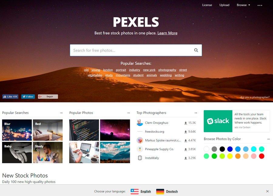 Pexels banco de imagenes